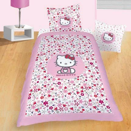 hello kitty parure de lit enfant housse de couette 100. Black Bedroom Furniture Sets. Home Design Ideas