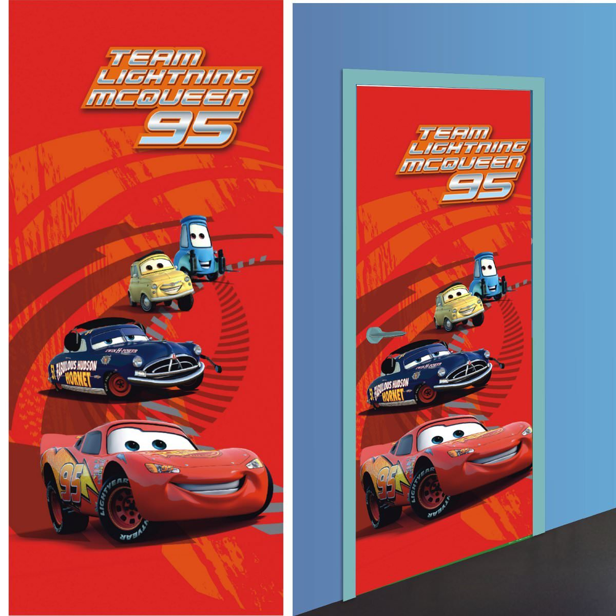 Disney cars 2 d coration murale poster de porte for Decoration chambre cars
