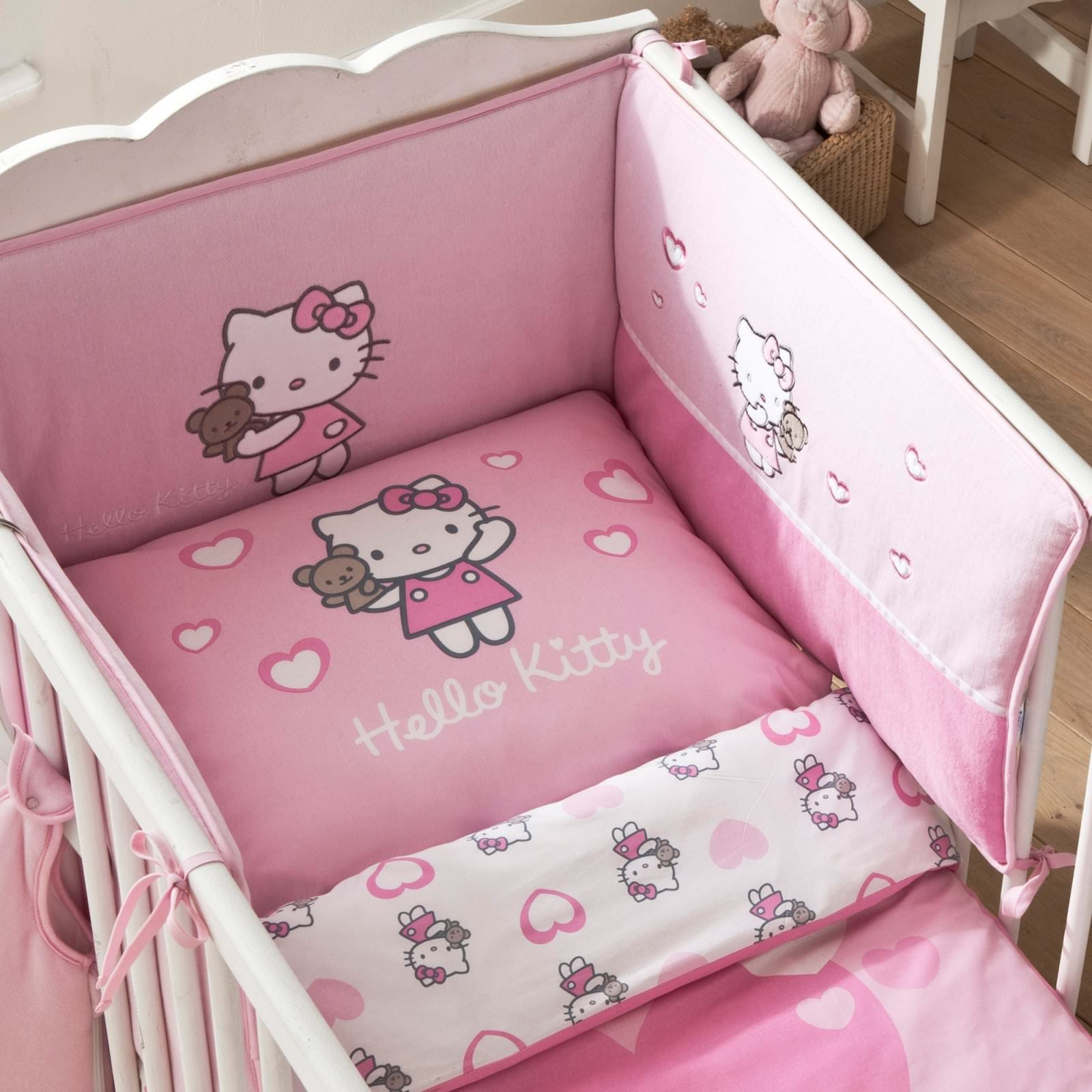 tour de lit hello kitty alice 40 x 180 cm decokids. Black Bedroom Furniture Sets. Home Design Ideas