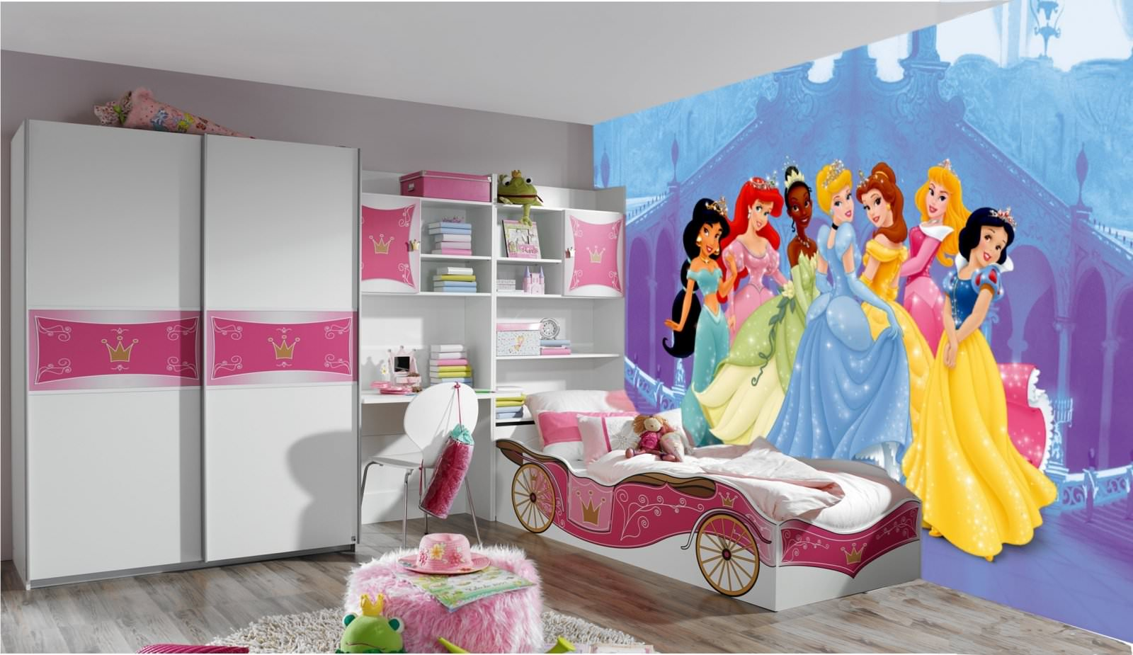 disney princesse poster papier peint xxl 350x250 cm. Black Bedroom Furniture Sets. Home Design Ideas