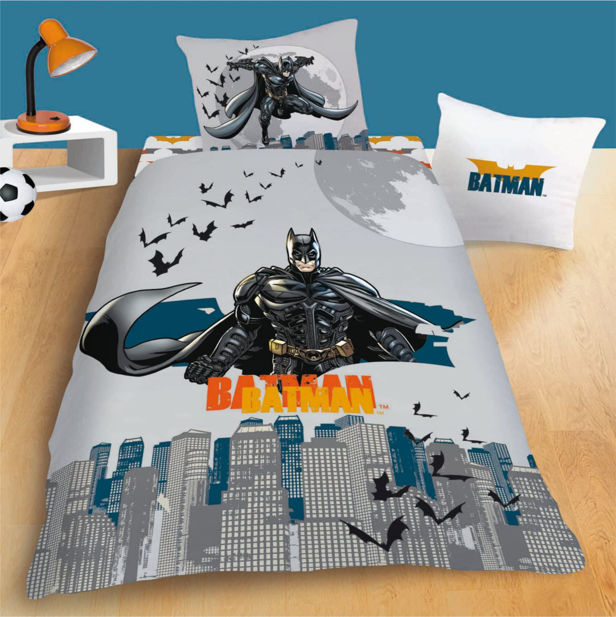 superior housse de couette batman 4 parure de lit batman shadow housse de couette taie. Black Bedroom Furniture Sets. Home Design Ideas
