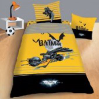 housse de couette batman 140x 200cm parure de lit batmobile decokids. Black Bedroom Furniture Sets. Home Design Ideas