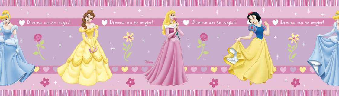 disney princesse frise murale 5 m de longueur disney princesses decokids tous leurs h ros. Black Bedroom Furniture Sets. Home Design Ideas