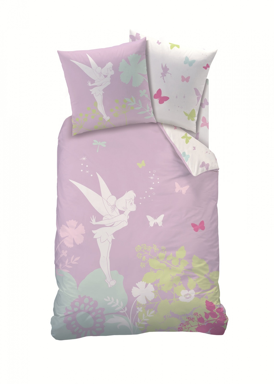 housse de couette disney fairies f e clochette 140x 200cm parure de lit moolight shadow. Black Bedroom Furniture Sets. Home Design Ideas