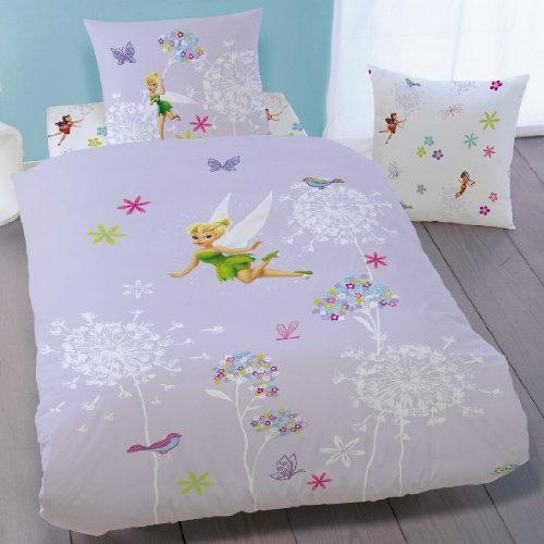 disney fairies housse de couette f e clochette parure de lit enfant 100 coton fairies. Black Bedroom Furniture Sets. Home Design Ideas