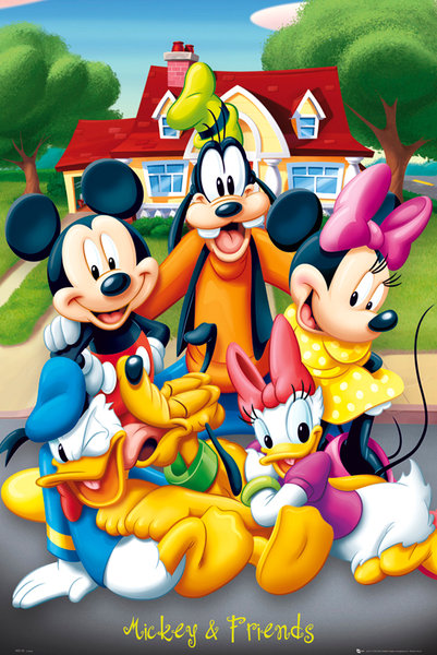 mickey poster 61 x 91 cm mickey et ses amis. Black Bedroom Furniture Sets. Home Design Ideas