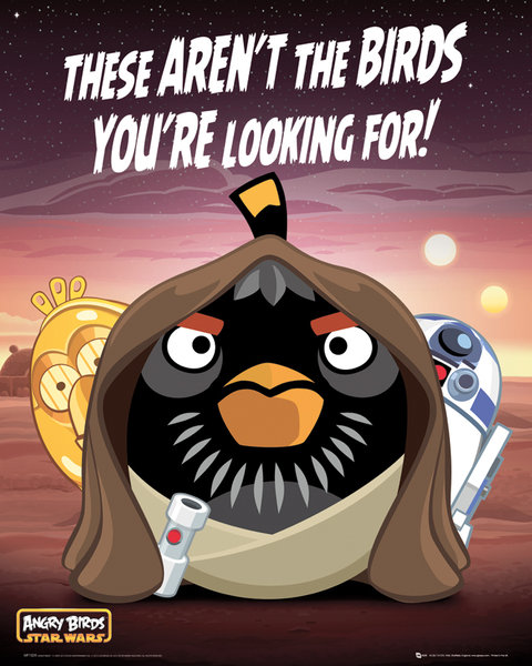 angry birds poster 40 x 50 cm droids angry birds decokids tous leurs h ros. Black Bedroom Furniture Sets. Home Design Ideas