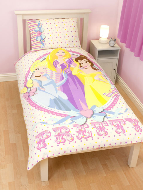 disney princesse parure de lit housse de couette 120 x 150 cm locket disney. Black Bedroom Furniture Sets. Home Design Ideas