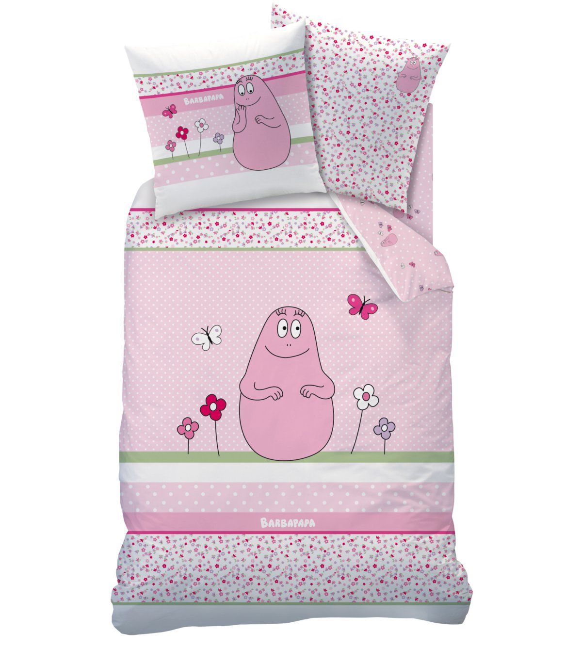 housse de couette barbapapa 140 x 200 cm esprit fleuri parure de lit decokids tous. Black Bedroom Furniture Sets. Home Design Ideas