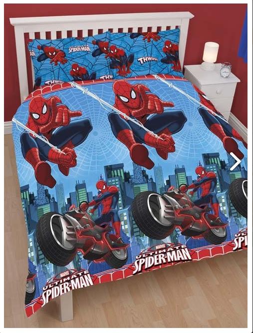 Spiderman housse de couette parure de lit 200 x 200 for Housse couette spiderman