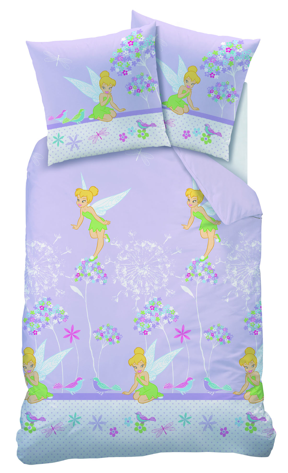 disney fairies housse de couette f e clochette parure de lit enfant floralies. Black Bedroom Furniture Sets. Home Design Ideas
