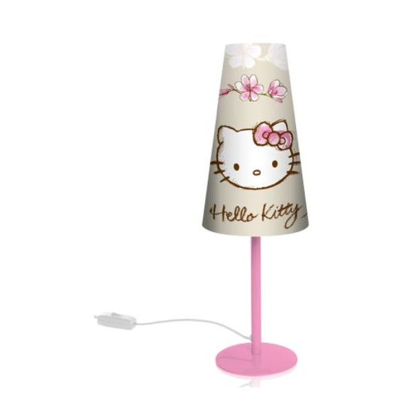 hello kitty lampe de chevet conique haut 39 cm hello kitty decokids tous leurs h ros. Black Bedroom Furniture Sets. Home Design Ideas