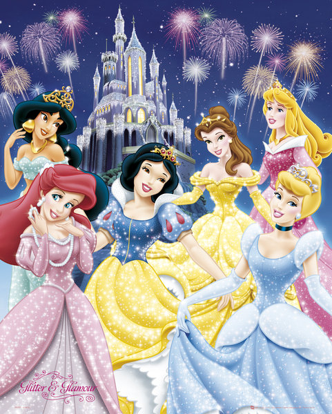 disney princesse poster 40 x 50 cm glamour disney princesses decokids tous leurs h ros. Black Bedroom Furniture Sets. Home Design Ideas