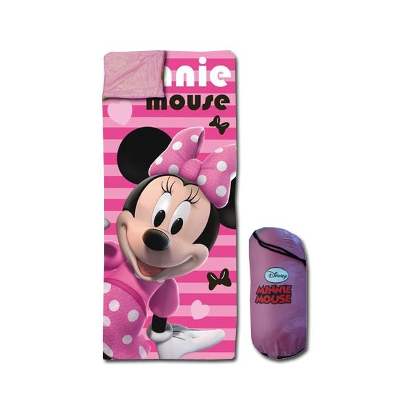 minnie sac de couchage avec sac de transport minnie decokids tous leurs h ros. Black Bedroom Furniture Sets. Home Design Ideas