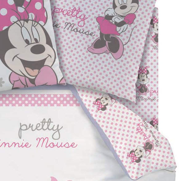 drap housse minnie 90 x 190 cm assorti la housse de couette poetic flowers mickey. Black Bedroom Furniture Sets. Home Design Ideas