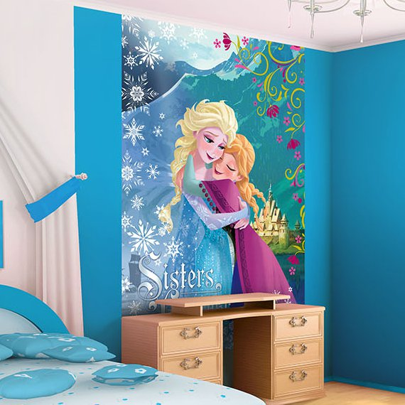 reine des neiges papier peint frozen poster elsa et. Black Bedroom Furniture Sets. Home Design Ideas