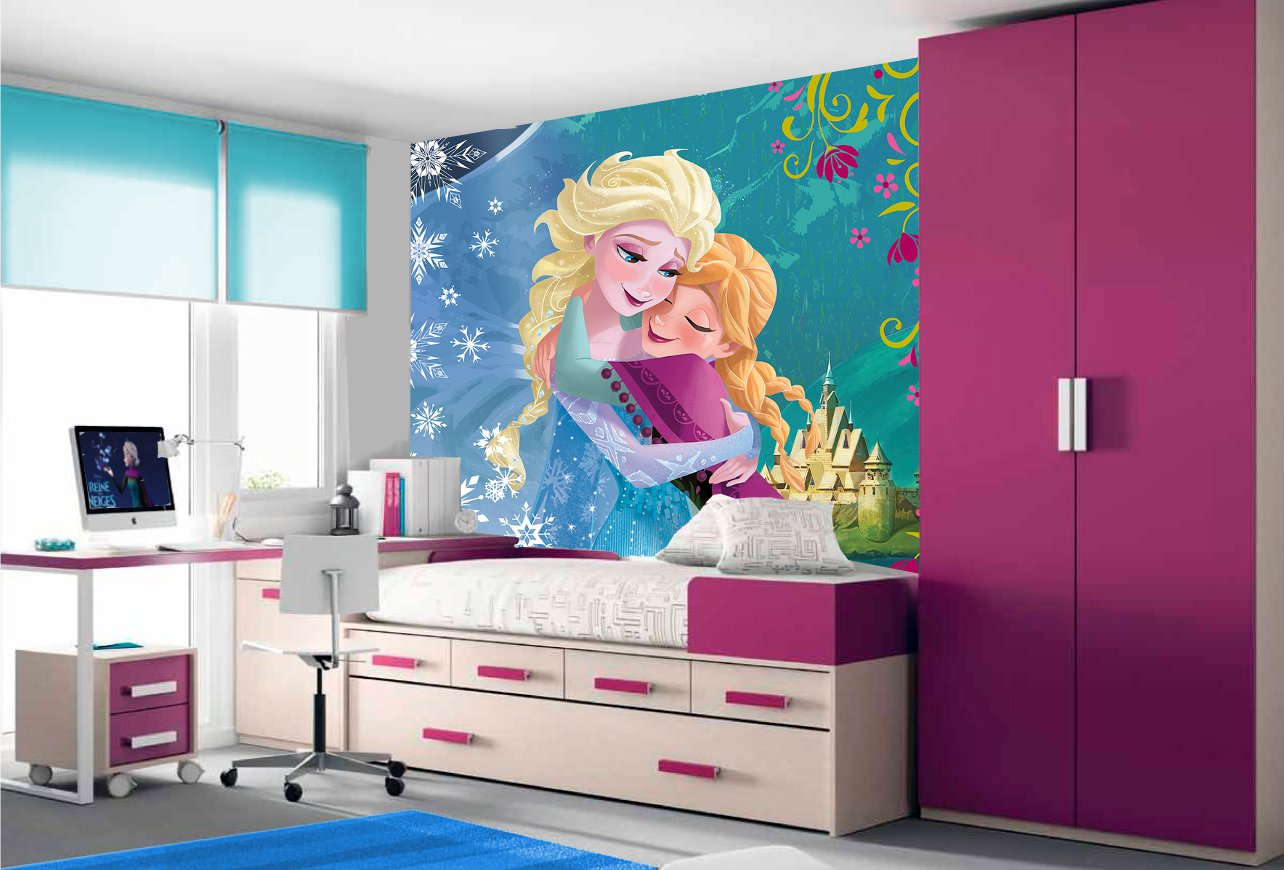 reine des neiges papier peint frozen poster elsa et anna en pr commande disney. Black Bedroom Furniture Sets. Home Design Ideas