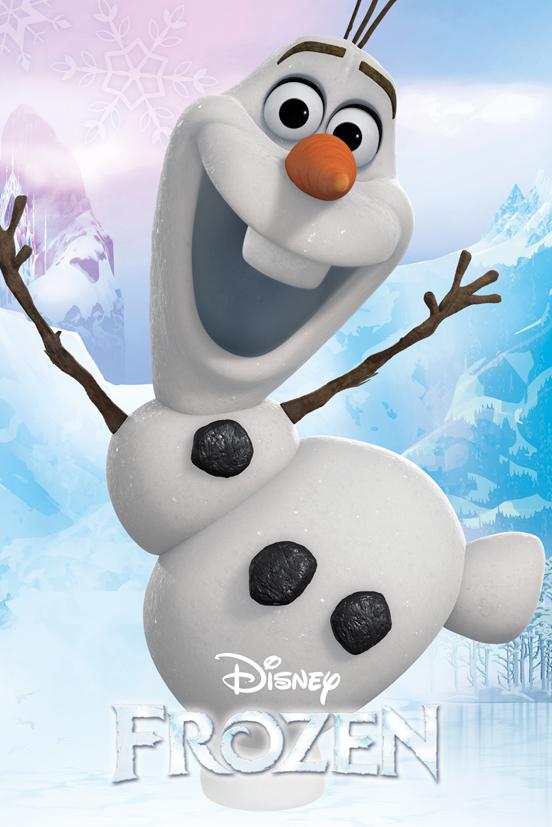 Frozen poster reine des neiges 40 x 50 cm olaf - Olaf de la reine des neige ...