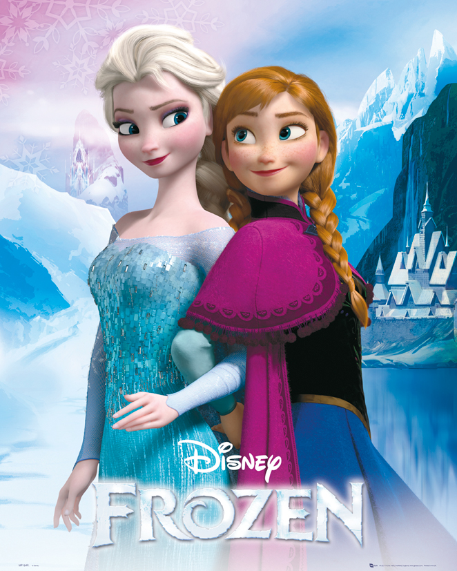 frozen poster reine des neiges 40 x 50 cm anna and elsa frozen reine des neiges. Black Bedroom Furniture Sets. Home Design Ideas
