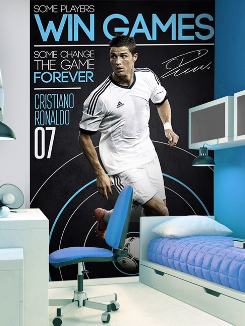football poster geant real madrid cristiano ronaldo x football tous le. Black Bedroom Furniture Sets. Home Design Ideas