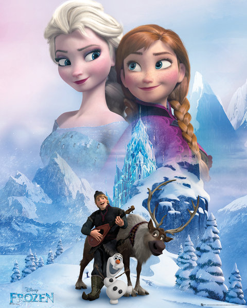 "frozen - poster reine des neiges - 40 x 50 cm- "" anna and elsa"