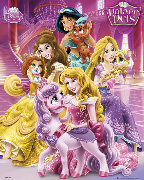 disney princesse poster 40 x 50 cm palace pets disney princesses decokids tous. Black Bedroom Furniture Sets. Home Design Ideas