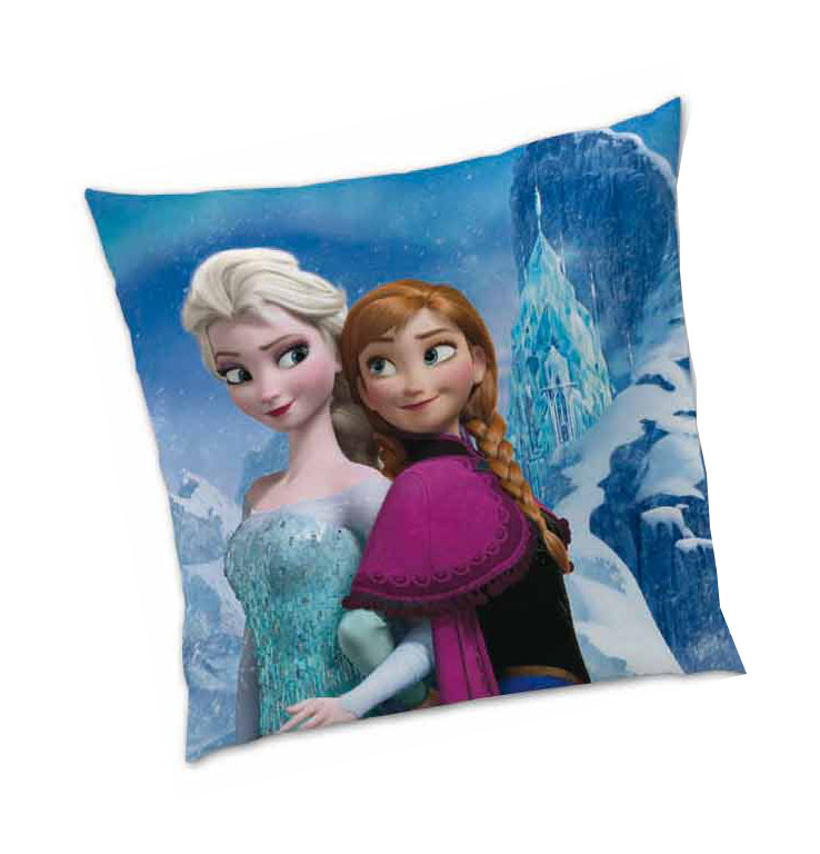 frozen reine des neiges coussin reversible 40 x 40 cm. Black Bedroom Furniture Sets. Home Design Ideas