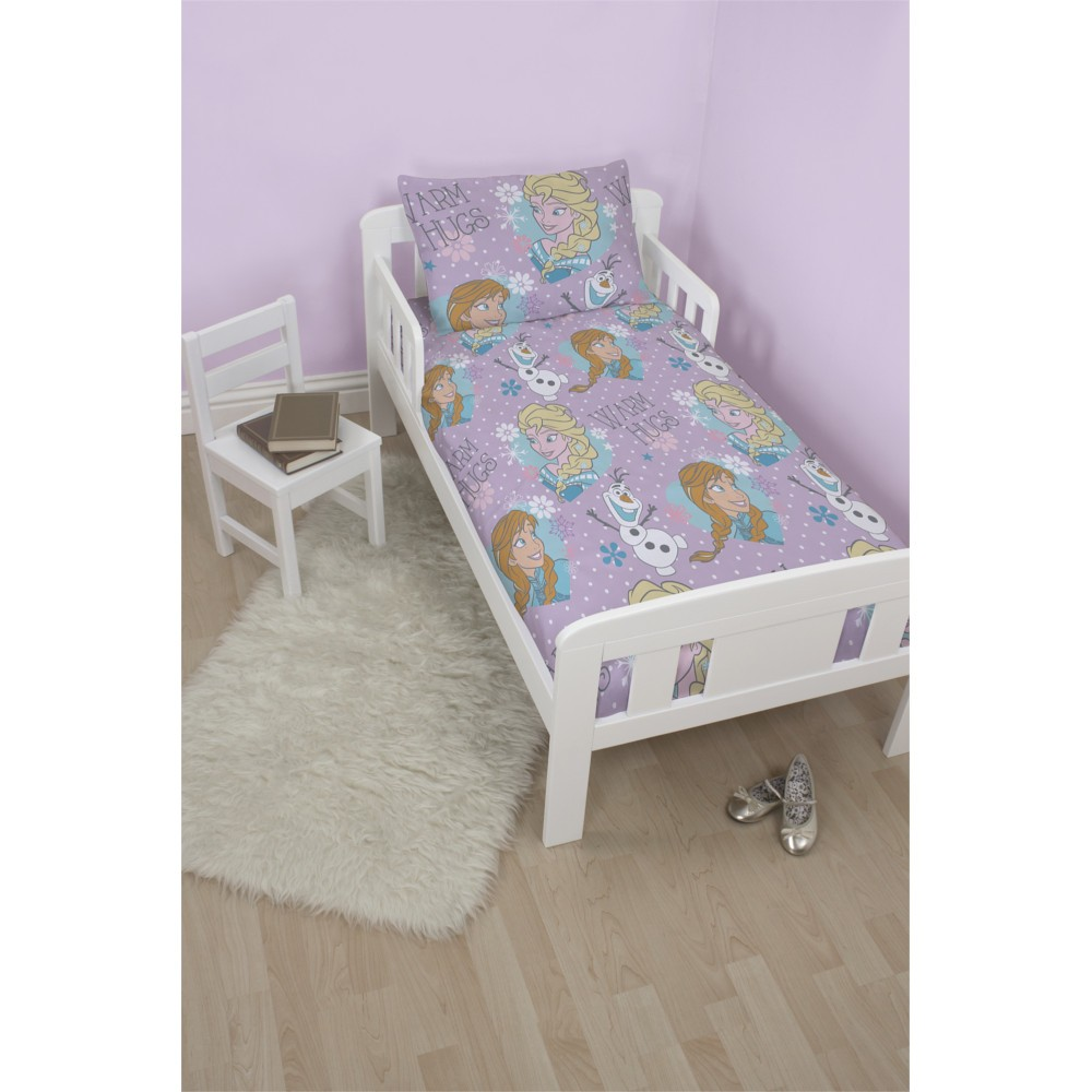 frozen la reine des neiges parure de lit housse de couette petit lit 120 x 150cm mauve. Black Bedroom Furniture Sets. Home Design Ideas