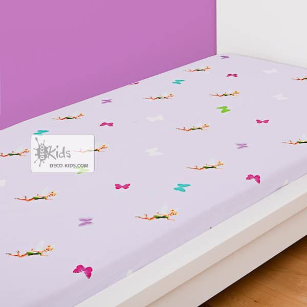 Disney fairies drap housse f e clochette 90x190 for Drap housse 90x190
