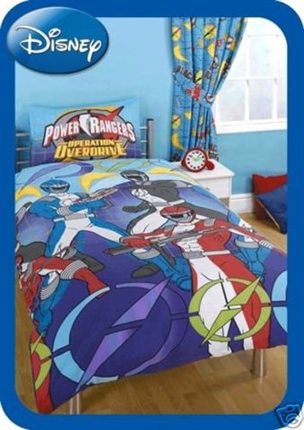 power rangers parure de lit housse de couette 140 x 200 cm divers personnages decokids. Black Bedroom Furniture Sets. Home Design Ideas