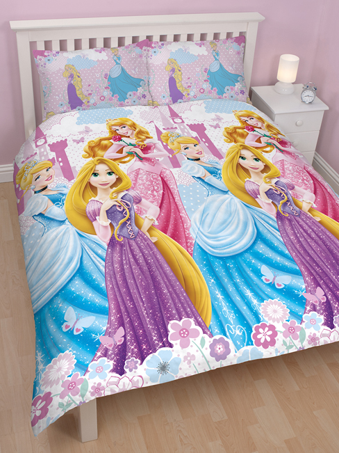 disney princesse parure de lit r versible housse de. Black Bedroom Furniture Sets. Home Design Ideas