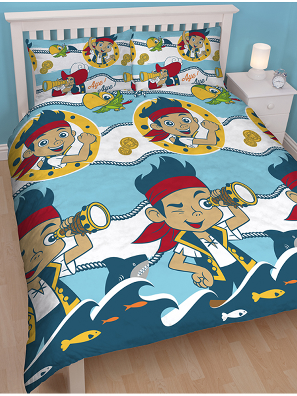 pirate jake parure de lit r versible housse de couette 200 x 200 cm jake le pirate. Black Bedroom Furniture Sets. Home Design Ideas