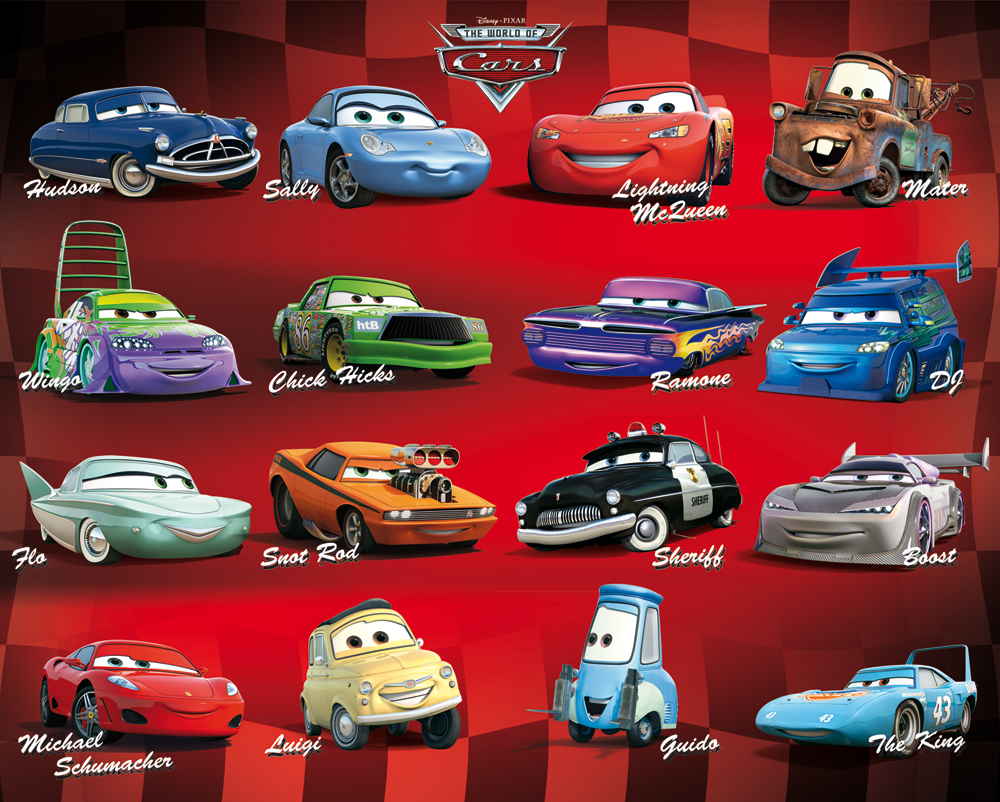 disney cars 2 poster 40 x 50 cm compilation disney cars decokids tous leurs h ros. Black Bedroom Furniture Sets. Home Design Ideas