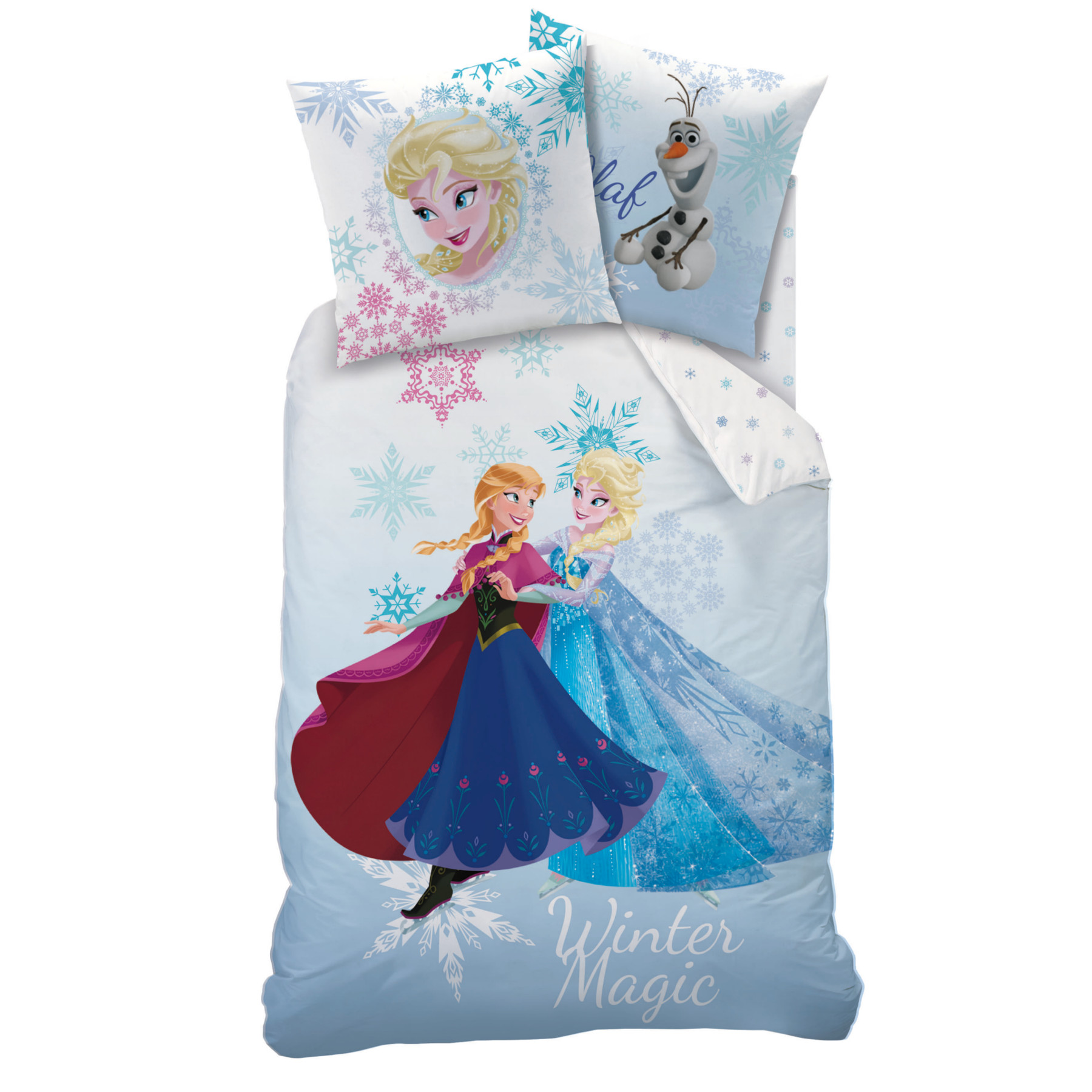 reine des neiges winter parure 140 x 200 coton r f fro427534 frozen reine des neiges. Black Bedroom Furniture Sets. Home Design Ideas