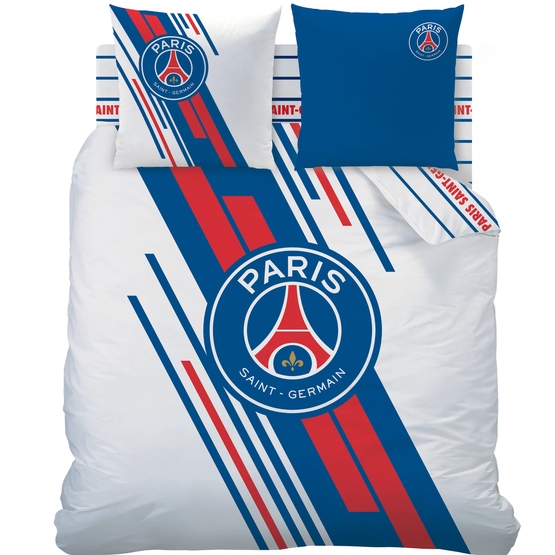 psg parure de lit housse de couette 200 x 200 cm psg stadium psg paris saint germain. Black Bedroom Furniture Sets. Home Design Ideas