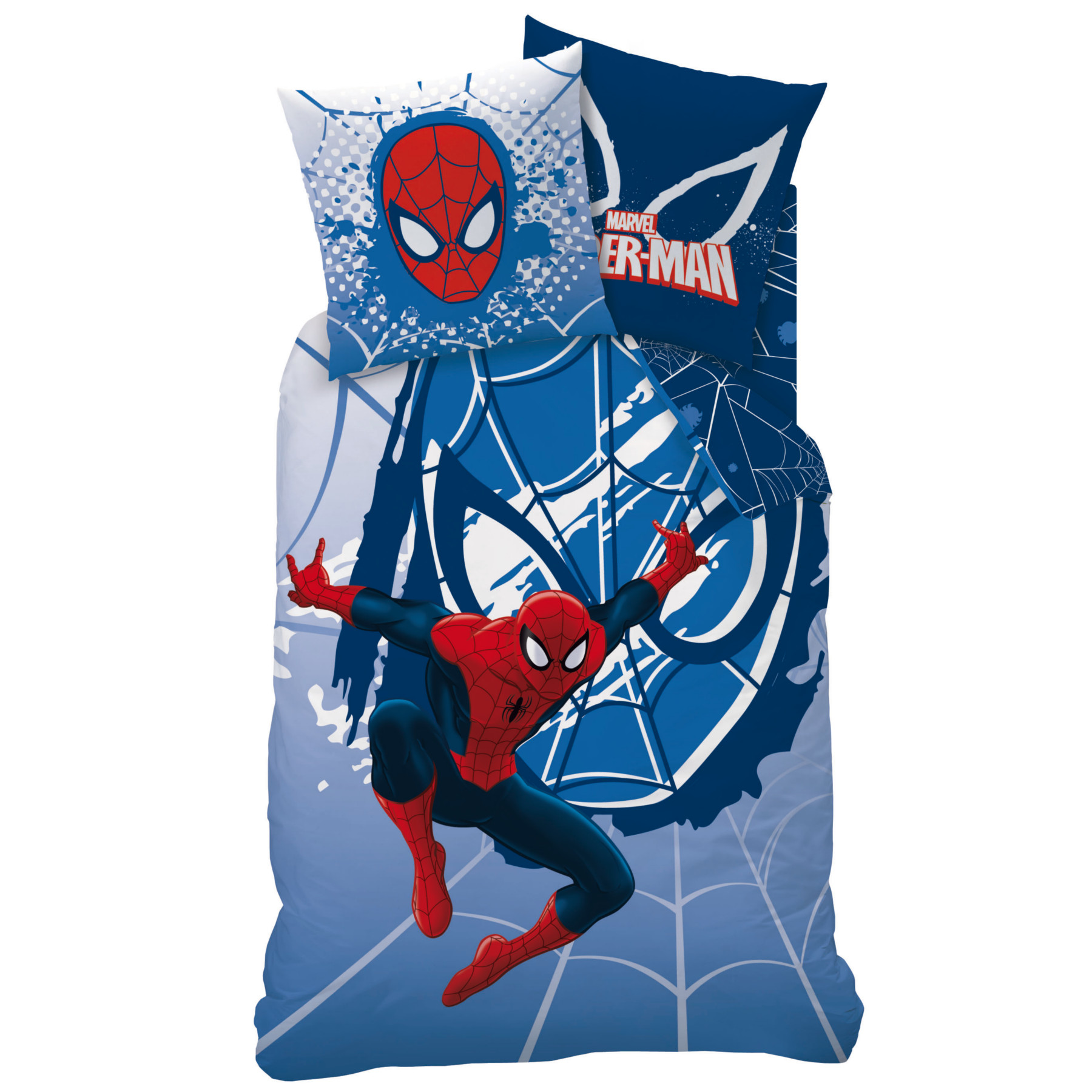 Spiderman webhead parure 140 x 200 coton r f for Housse de couette spiderman 200x200