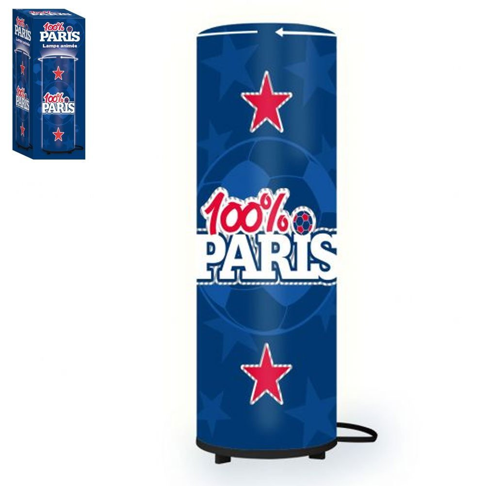 psg paris saint germain lampe de chevet tube anim e 41 cm psg paris saint germain. Black Bedroom Furniture Sets. Home Design Ideas