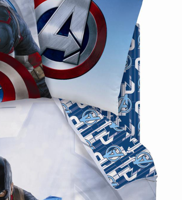 avengers captain america drap housse 90 x 190 coton r f ave432187 avengers. Black Bedroom Furniture Sets. Home Design Ideas