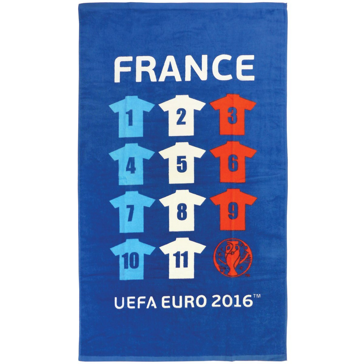 Coupe Europe Football France Equipe Serviette 70 X 120 Ref