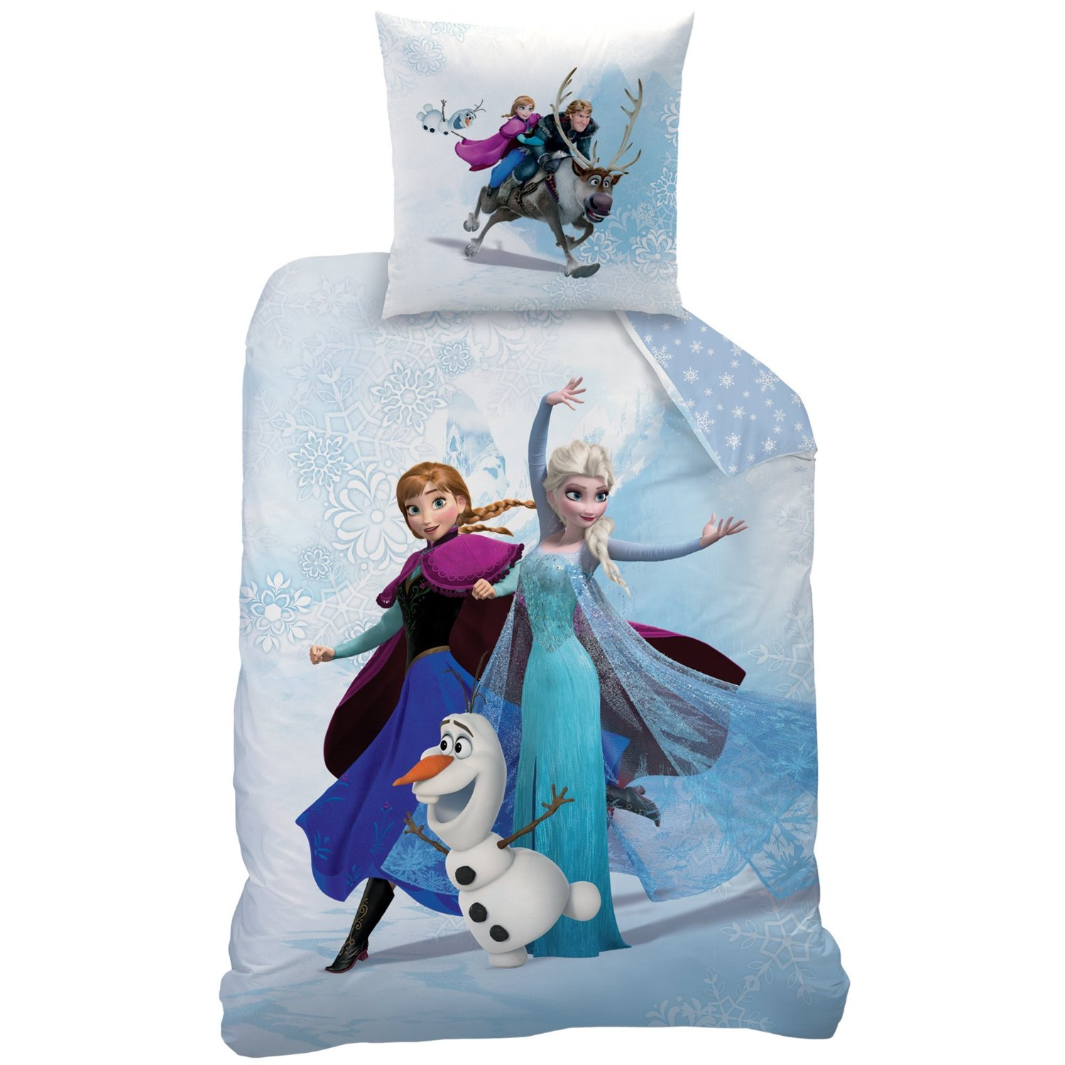 Reine des neiges enjoy parure 140 x 200 coton r f for Housse de couette winnie