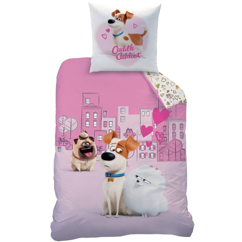 Pets love parure 140 x 200 coton r f pet439933 comme des b tes pets decokids tous - Housse de couette barbapapa ...
