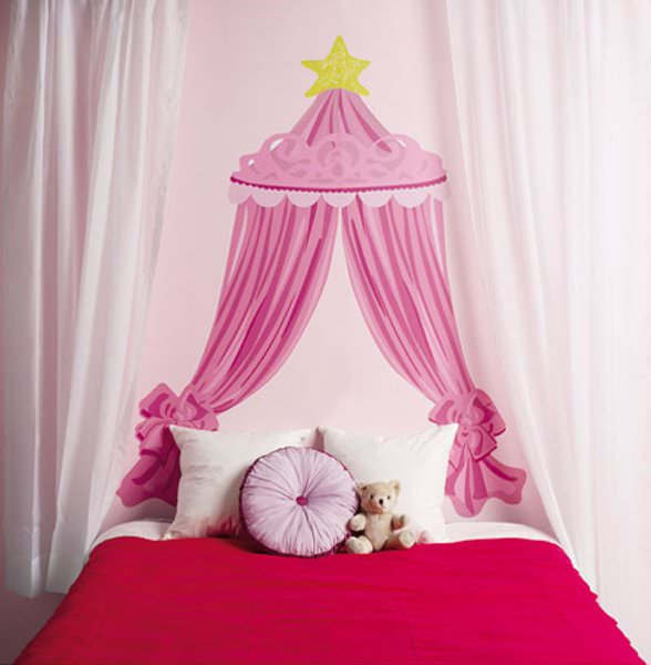 grand sticker mural t te de lit disney princesse disney. Black Bedroom Furniture Sets. Home Design Ideas