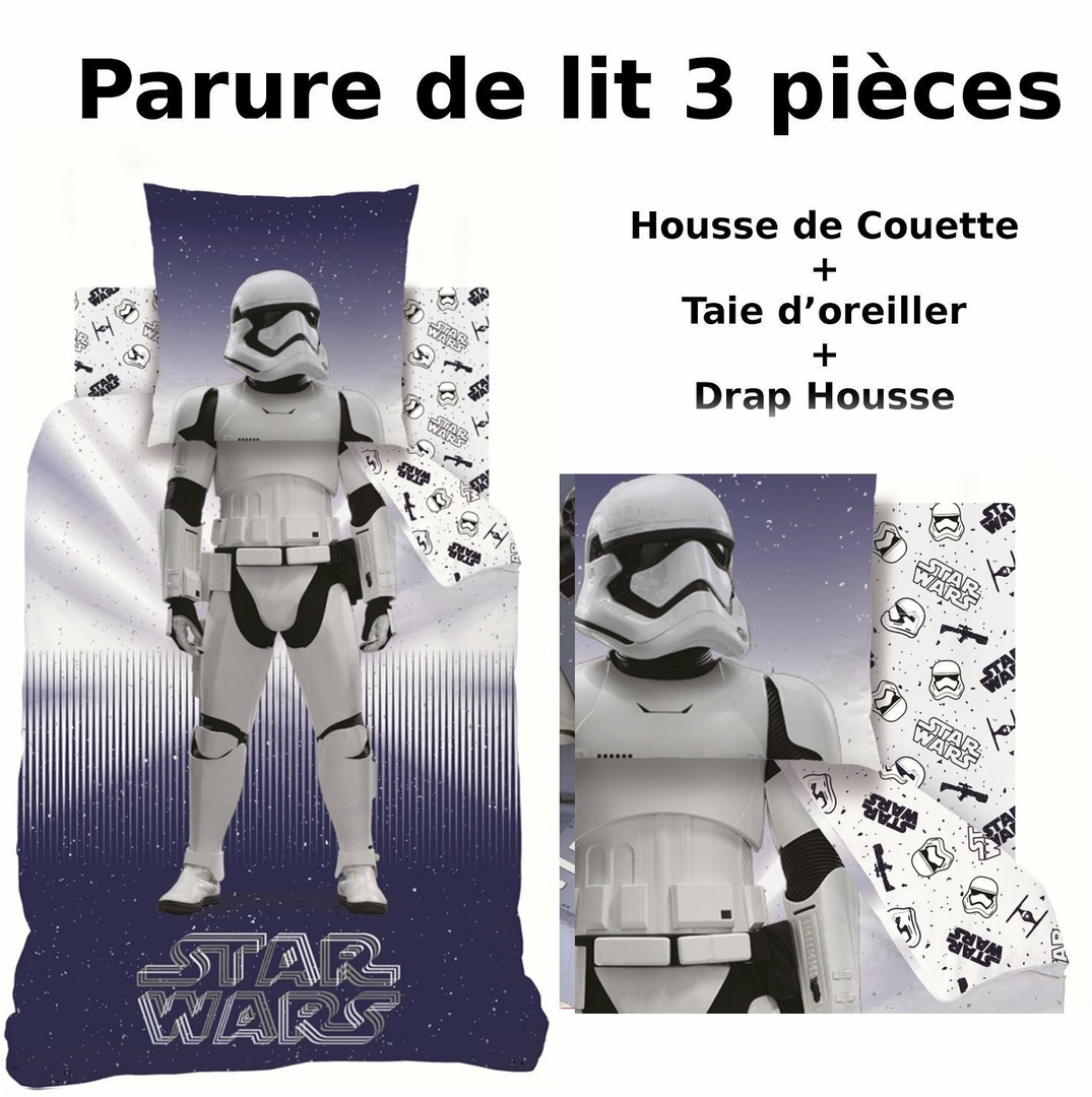 star wars stormtrooper parure de lit 3pcs housse de. Black Bedroom Furniture Sets. Home Design Ideas