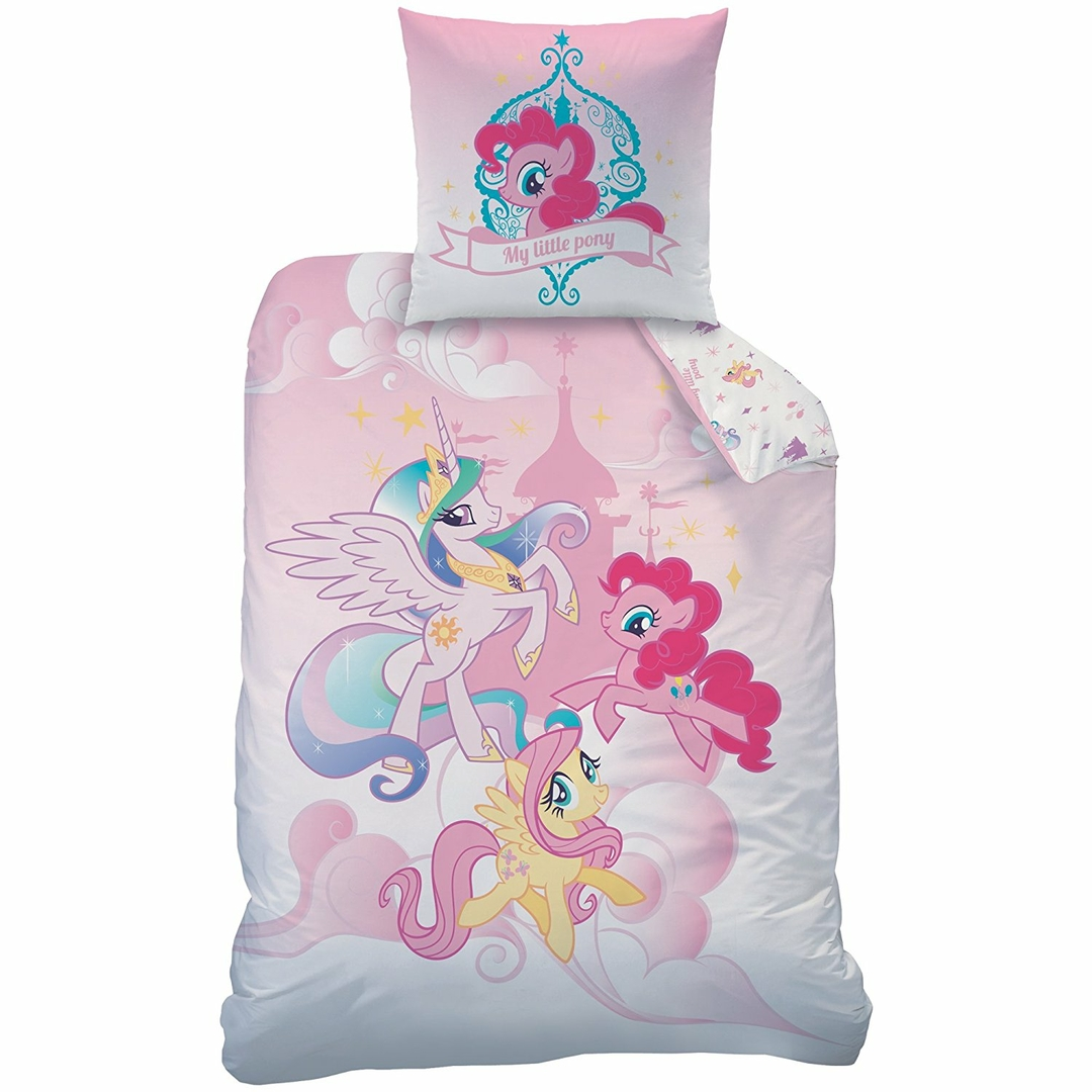 my little pony parure de lit housse de couette 140x200 taie d 39 oreiller 63x63 mon. Black Bedroom Furniture Sets. Home Design Ideas