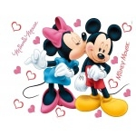 MICKEY et MINNIE - maxi stickers muraux - 85x65cm