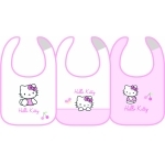 "HELLO KITTY - Lot de 3 bavoirs - 31 x 21 cm - "" Coccinelle """