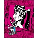 MONSTER HIGH - Plaid - couverture - 110 x 140 cm