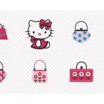 HELLO KITTY Rouleau de papier peint fashion