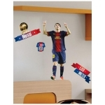 FOOTBALL- Stickers FC Barcelona - Messi - Hauteur 72 cm