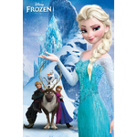 "FROZEN - Poster Reine des Neiges - 61 x 91cm - "" Mountain """